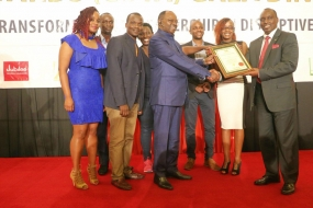 Smoothtel staff receives an award during the COYA Awards 2017 at Safari Park. The event was held in November 2017