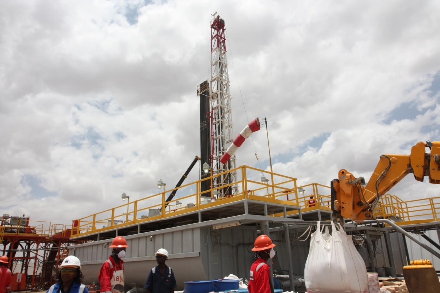 Ngamia 1 oil rig on site. Tullow completes drill on South Lokichar basin with plans to begin Early Oil Pilot Scheme